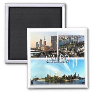 Z.B. * Ägypten - Kairo Quadratischer Magnet