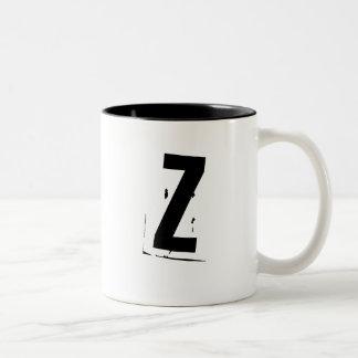 """""""Z-"""" Initialen-/-monogramm-Tasse Zweifarbige Tasse"""