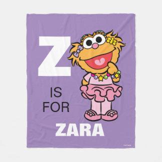 Z ist für Zoe, den | Ihren Namen addieren Fleecedecke