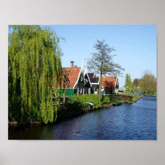 Zaanse Schans niederländische Bauholzhäuser in Poster