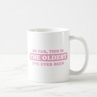 zacken Sie bis jetzt, dieses ist das älteste aus, Tasse