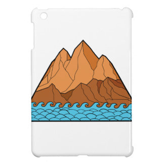 Zackige Gebirgswellen-Monolinie iPad Mini Hülle