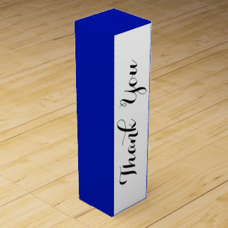 Zaffre-blauer Klassiker gefärbt Weinbox