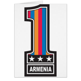 Zahl eine Armenien Karte