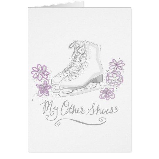 Zahl Eis-Skaten Geburtstags-Gruß-Karte Grußkarte