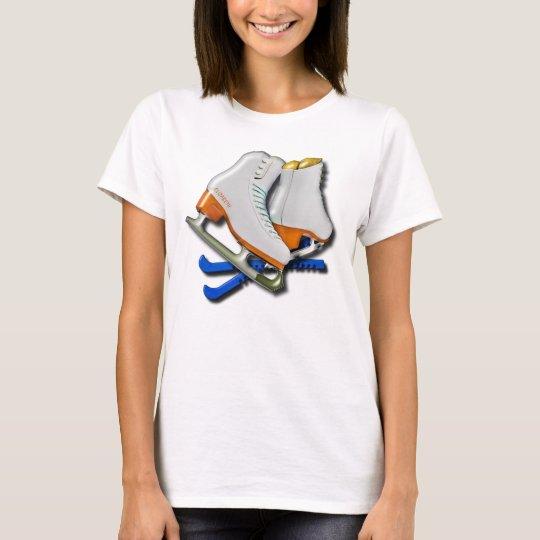 Zahl Skate und Skate-Schutz mit Ihrem Namen T-Shirt