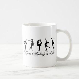 Zahl Skaten ist Leben - Skript u. Skater Kaffeetasse