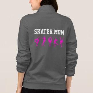 Zahl Skaten-Mamma-Jacken-personalisiertes Grau