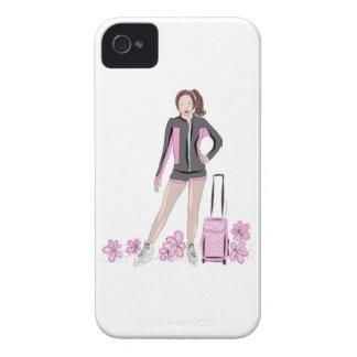 Zahl Skater mit Zuka Tasche iPhone 4 Cover