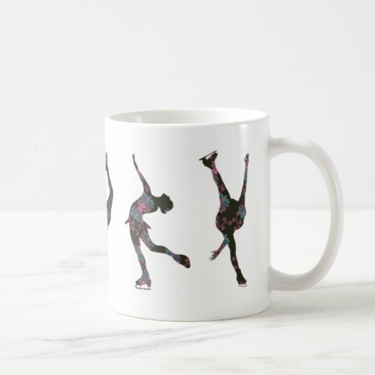 Zahl Skater, Rosa, graues Muster Kaffeetasse