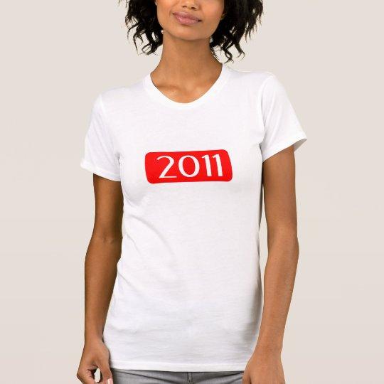 Zahl-Textgeburtstag des Geburtsjahres 2011 T-Shirt