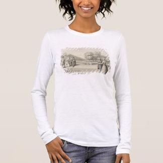 Zahlen auf der Bank des langen Wassers, Hampton Langarm T-Shirt