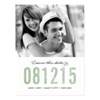 ZAHLEN Save the Date Postkarte