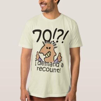 Zählen Sie 70. Geburtstag nach T-Shirt