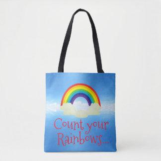 Zählen Sie Ihre Regenbogen-Taschen-Tasche Tasche