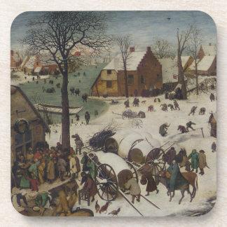 Zählung in Bethlehem durch Pieter Bruegel Untersetzer