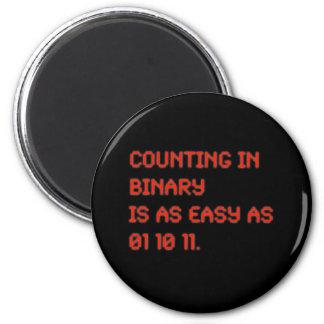 Zählung in der Zweiheit Runder Magnet 5,1 Cm