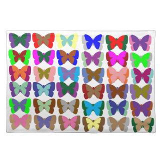 ZÄHLUNG Schmetterlinge n LERNEN auch Farben - Tisch Sets