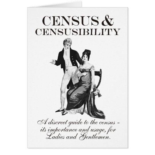 Zählung u. Censusibility Geburtstags-Karte Karte