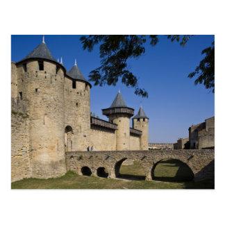 Zählungs-Schloss, Carcassonne, Aude, Languedoc, Postkarte