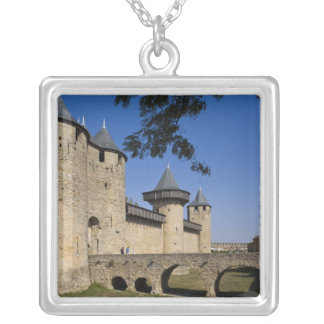 Zählungs-Schloss, Carcassonne, Aude, Languedoc, Versilberte Kette