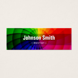 Zahnarzt - Radialregenbogen-Farben Mini Visitenkarte