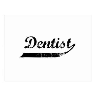 Zahnarzt-Typografie Postkarte