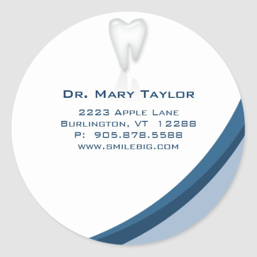 Zahnarzt-zahnmedizinische molare runde sticker