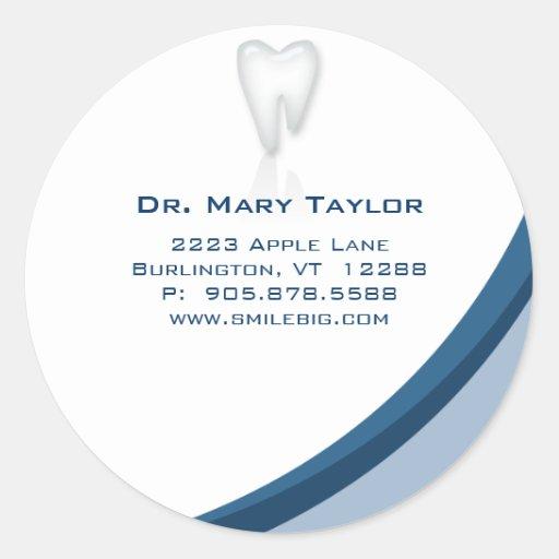 Zahnarzt-zahnmedizinische molare Zahn-Logo-Aufkleb Runde Sticker