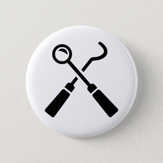 Zahnarztwerkzeuge Runder Button 5,7 Cm