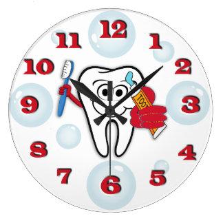 Zahnbürste-Uhr Große Wanduhr