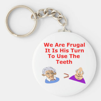 Zähne teilen seine Drehung Schlüsselanhänger