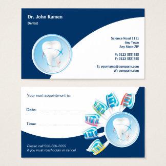 Zahnmedizinischer Zahnarzt der Visitenkarte