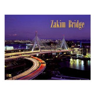 Zakim Brücke, Boston nachts Postkarte