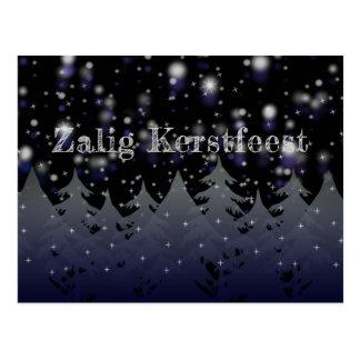 Zalig Kerstfeest niederländischer Postkarte