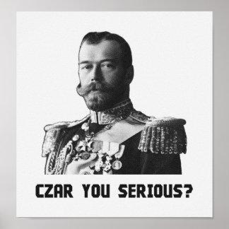 Zar Nicholas II - Zar Sie ernst? Poster