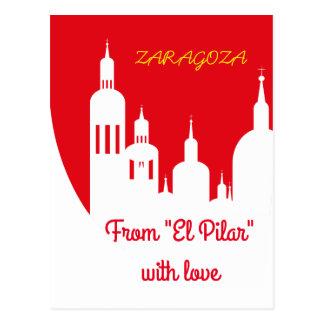 Zaragoza, Spain, Postkarte