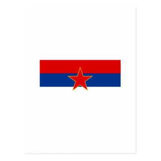 Zastava Srbije, serbische Flagge Postkarte