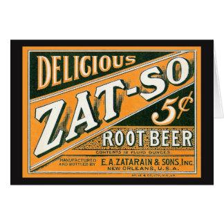 Zat-So 5¢ Root Beer Grußkarte