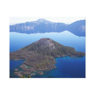 Zauberer-Insel im Crater See Leinwanddruck