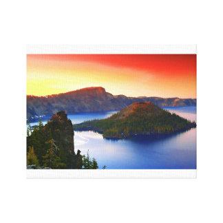 Zauberer-Insel und Crater See Leinwanddruck