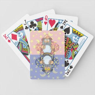 Zauberer mit Ball Bicycle Spielkarten
