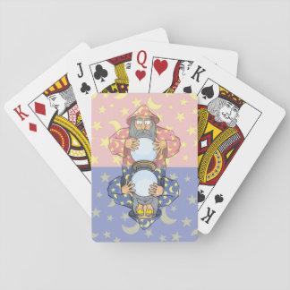 Zauberer mit Ball Spielkarten