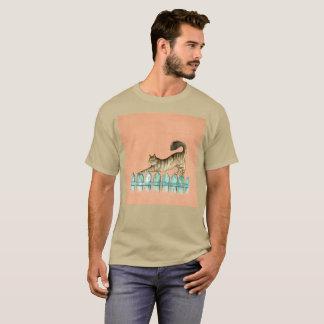Zaun-Katze Gato Ausdehnungwatercolor-seltener T - T-Shirt