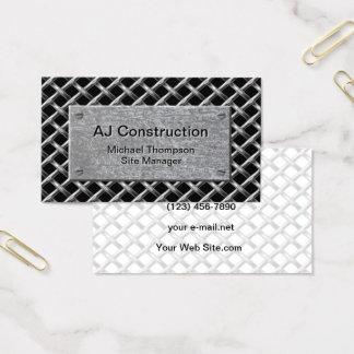 Zaun und galvanisierte Platte Visitenkarte