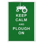 zazzle behalten ruhiges plough.jpg grußkarte