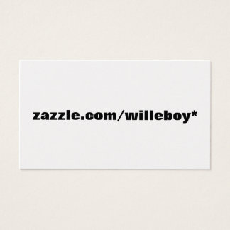 zazzle.com/willeboy* visitenkarte