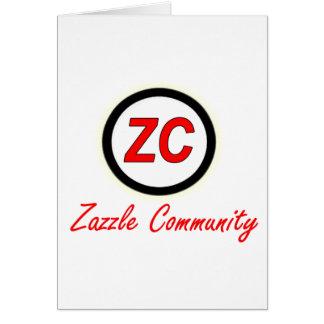 Zazzle Gemeinschaft Karte
