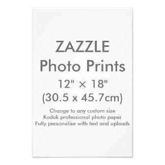 """Zazzle Gewohnheit 12"""" × 18"""" Foto-Druck-Schablone Fotodruck"""