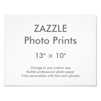 """Zazzle Gewohnheit 13"""" × 10"""" Foto-Druck 33 X.25 cm Fotodruck"""